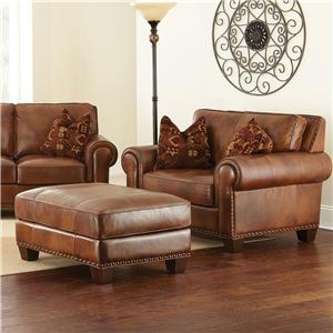 Vendor 3985 Silverado Chair and a Half with Ottoman