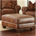 Morris Home Furnishings Silverado Chair and a Half with Ottoman and Nailhead Trim - Set Includes Ottoman