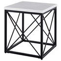 Morris Home Salter Salter White Marble Top Square End Table - Item Number: SK200E
