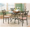 Vendor 3985 Tacoma 5-Piece Table & Chair Set - Item Number: TA4545RT+BS