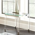 Steve Silver Talia Glass Top End Table - Item Number: TL200E