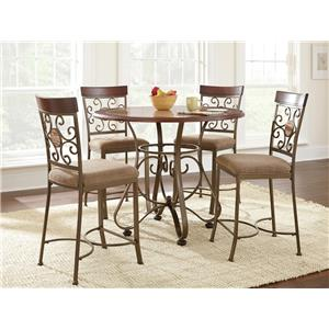 Vendor 3985 Thompson 5 Piece Counter Height Dining Set