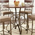 Vendor 3985 Thompson 5 Piece Counter Height Metal Base Table and Suncatcher Dining Chair Set