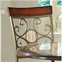 Vendor 3985 Thompson 5 Piece Metal Base Table and Suncatcher Dining Chair Set - Detailed View of Chair Backs