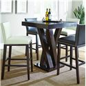 Morris Home Furnishings Tiffany 5 Piece Bar Table Set - Item Number: TF600PTN+2x650BCBN+2x650BCWN
