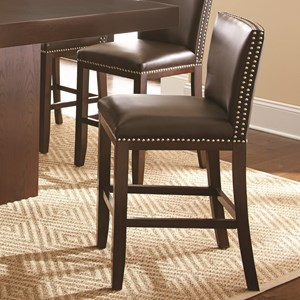 Morris Home Furnishings Tiffany Bonded Counter Chair