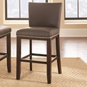 Morris Home Tiffany Bonded Counter Chair - Item Number: TF650CCGN