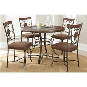 Steve Silver Toledo 5 Piece Glass Insert Top Dining Set