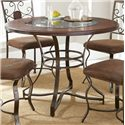 Vendor 3985 Toledo Round Table with Glass Insert