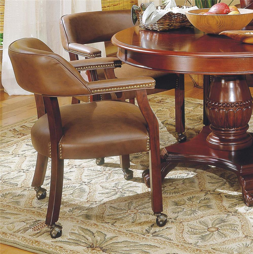 Tournament Arm Chair with Casters