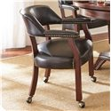 Morris Home Furnishings Tournament Tournament Arm Chair with Casters - Item Number: TU500AB