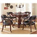 Morris Home Furnishings Tournament Tournament Game Table & Caster Arm Chair Set - Item Number: TU5050GTB+T+B+500AB