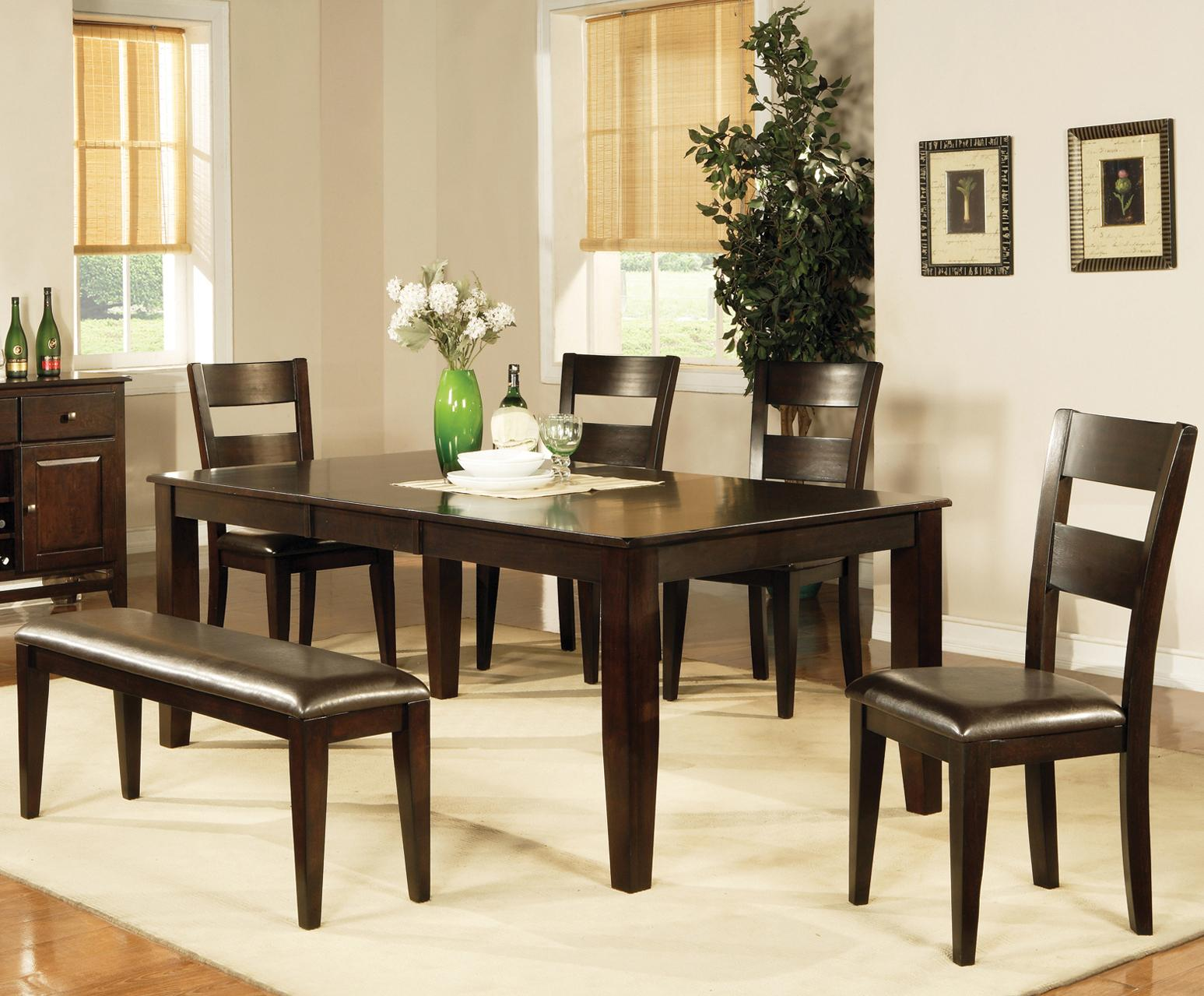 Steve Silver Victoria 7 Piece Victoria Dining Set With Side Chairs And Dining Bench Wayside Furniture Table Chair Set With Bench