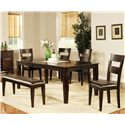 Vendor 3985 Victoria  Victoria Dining Set  - Item Number: VC400T+4xS+BN