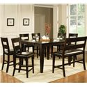 Vendor 3985 Victoria  8 Piece Counter Height Dining Set - Item Number: VC900PT+6xCC+BN