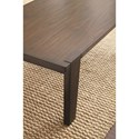 Steve Silver Vince Rectangular Cocktail Table with Tapered Legs