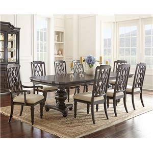 Steve Silver Vivaldi Dining Table, 4 Side Chairs & 2 Arm Chairs