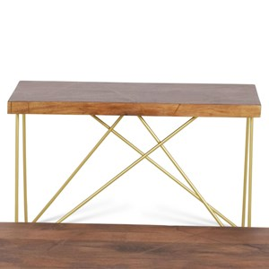 Brass Inlay Sofa Table