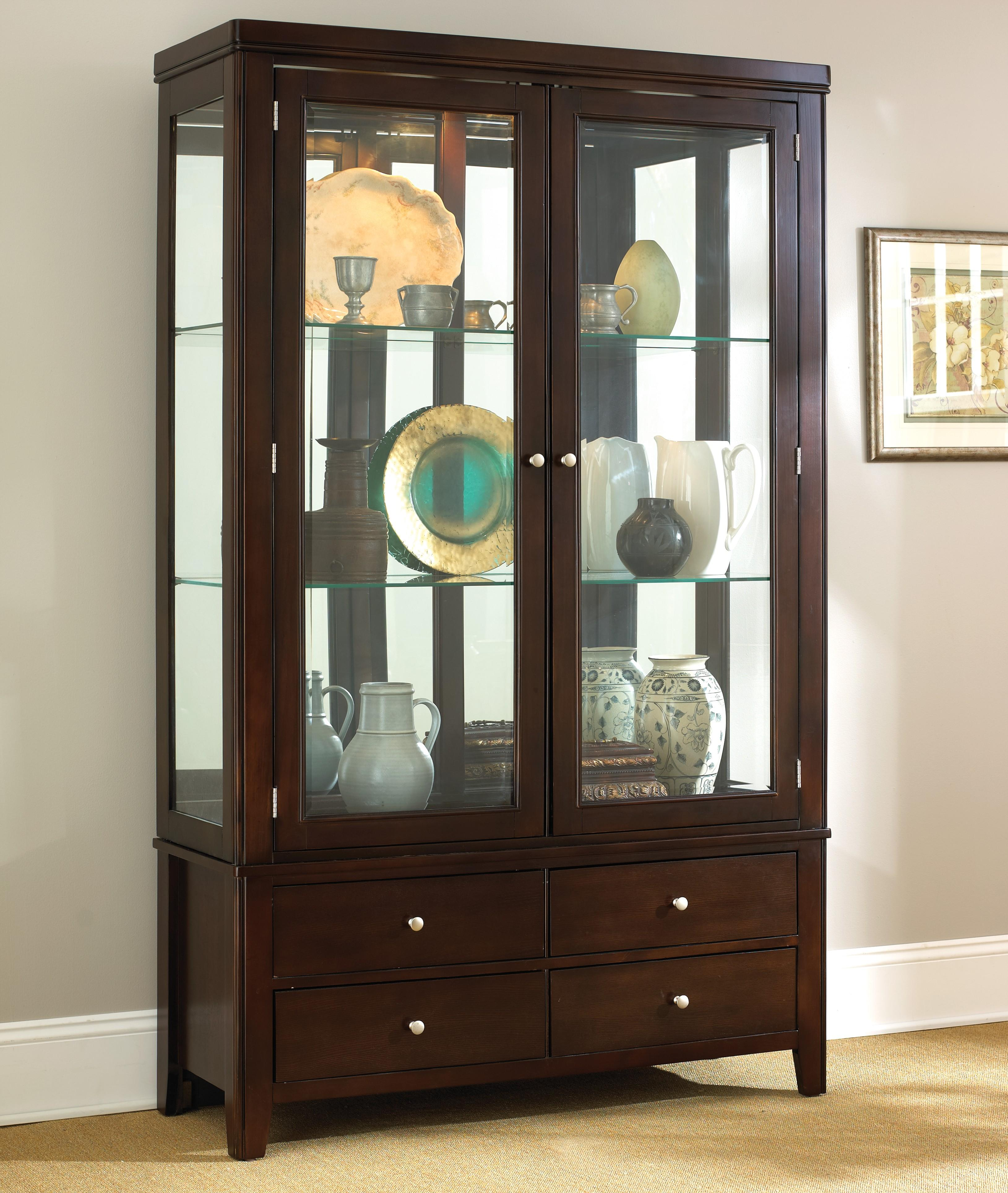 Steve Silver Wilson China Cabinet   Item Number: WL500B+H
