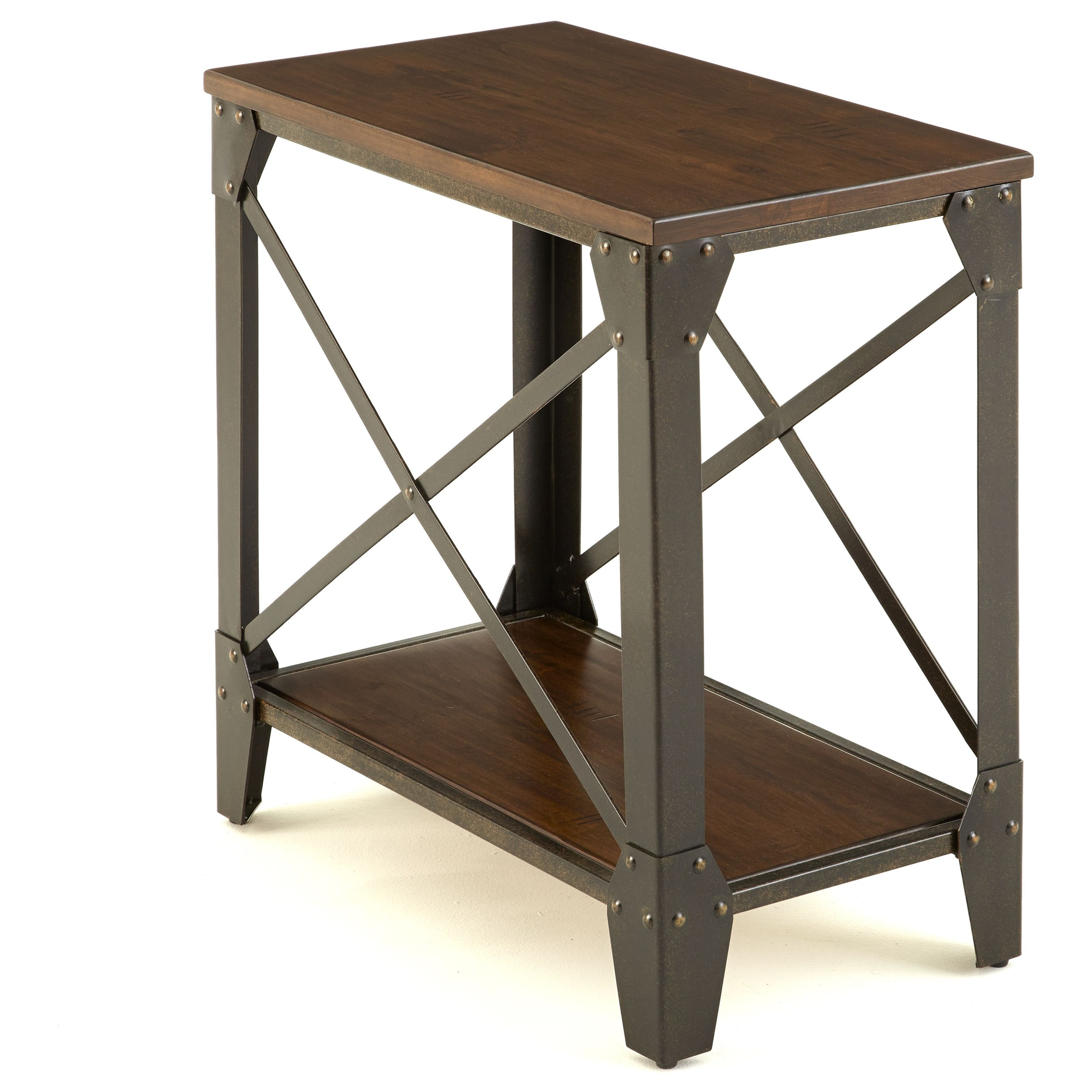 Steve Silver Winston Industrial Chairside End Table With Birch