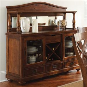 Morris Home Furnishings Wyndham Server with Hutch