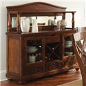 Morris Home Furnishings Wyndham Server with Hutch - Item Number: WD500B+H