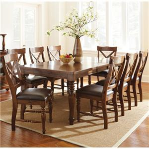 Morris Home Furnishings Wyndham 9 Piece Dining Set