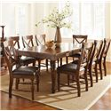 Morris Home Furnishings Wyndham 9 Piece Dining Set - Item Number: WD500T+8xS