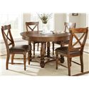 Morris Home Furnishings Wyndham Round Dining Table with Turned Legs