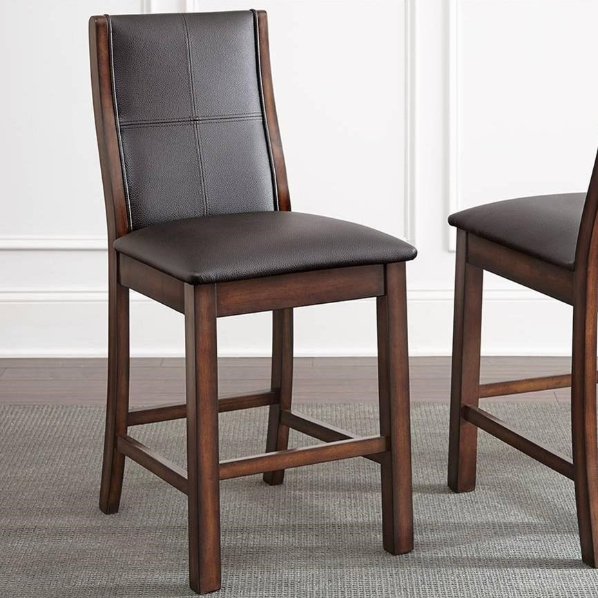 Xander Counter Height Upholstered Chair With Curved Wood