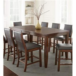 Steve Silver Xander Counter Table & 6 Counter Chair Set