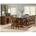 Morris Home Furnishings Zappa Counter Height Chair with Upholstered Seat - Shown with Counter Table & Server