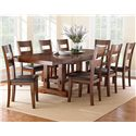 Vendor 3985 Zappa 9 Piece Dining Set - Item Number: ZP700T+8x500S