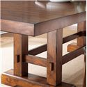 Morris Home Furnishings Zappa Trestle Dining Table with 2 Leaves - Table Features a Casual Trestle Base with Box Stretcher