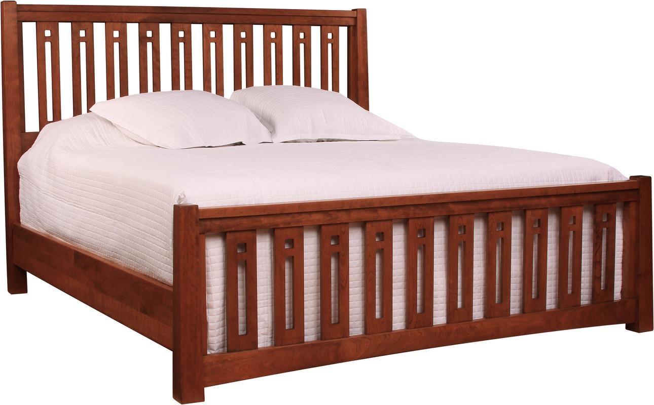 stickley highlands pierced slat bed  sprintz furniture