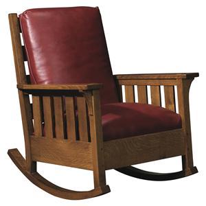 Stickley Oak Mission Classics Loose Cushion Gustav Rocker