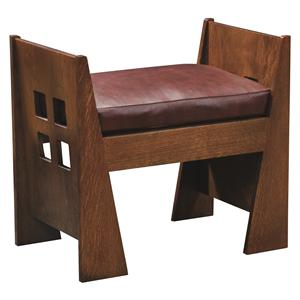 Stickley Oak Mission Classics Limbert Window Bench with Cushion
