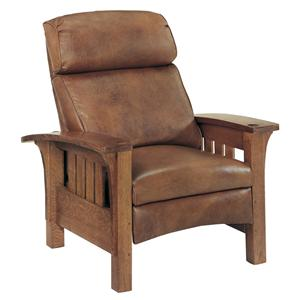 Stickley Oak Mission Classics Bustle Back Bow Arm Morris Recliner