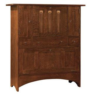 Stickley Oak Mission Classics Harvey Ellis Fall Front Bar