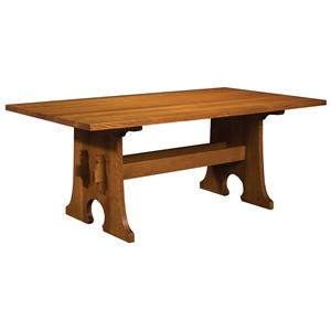 Keyhole Trestle Table