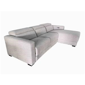Power Headrest Sectional Chaise Sofa and Rec