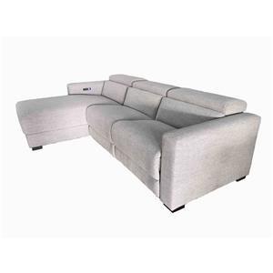 Power Headrest Sectional Chaise Sofa
