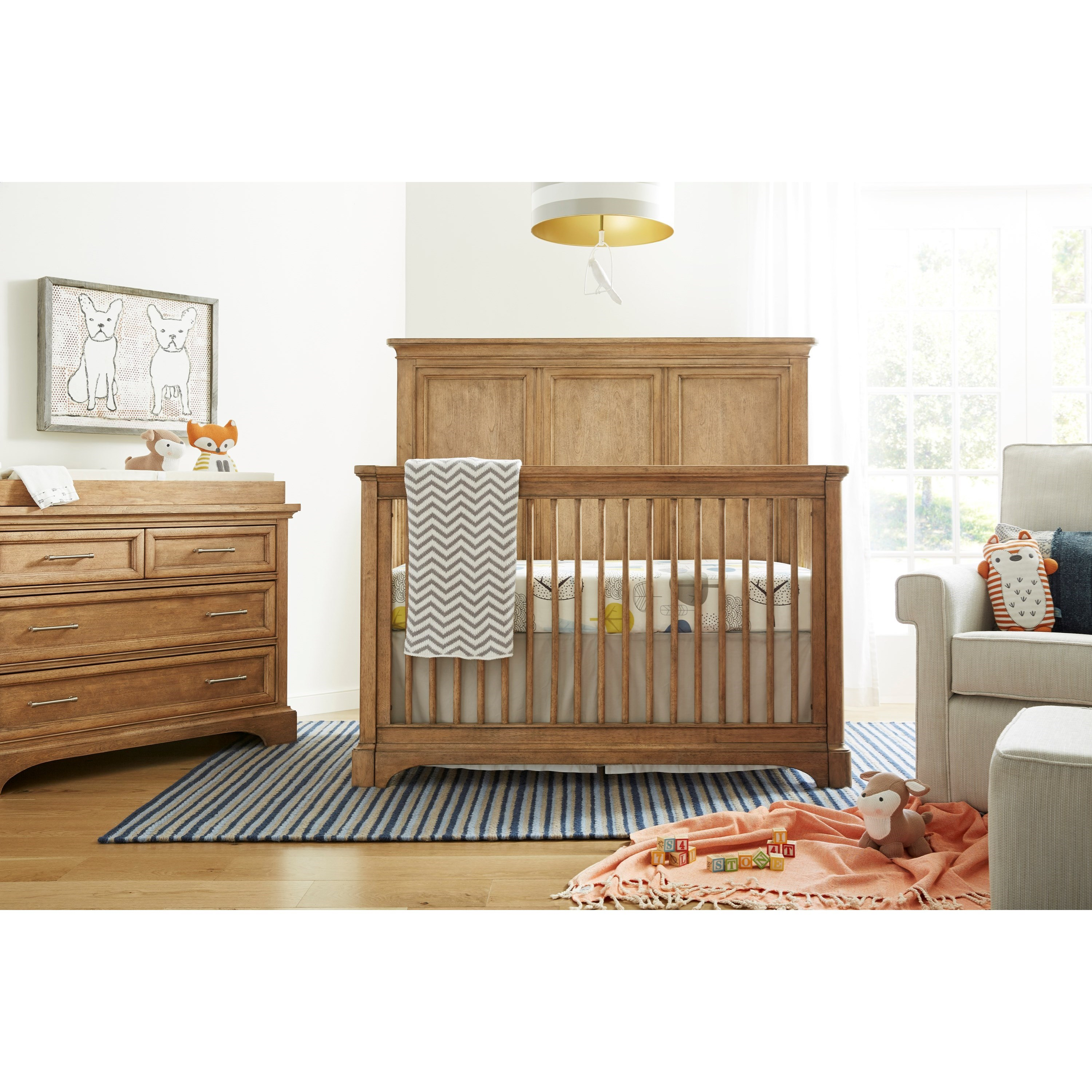 Stone & Leigh Furniture Chelsea Square Crib Bedroom Group - Item Number: 584-63 C Bedroom Group 1