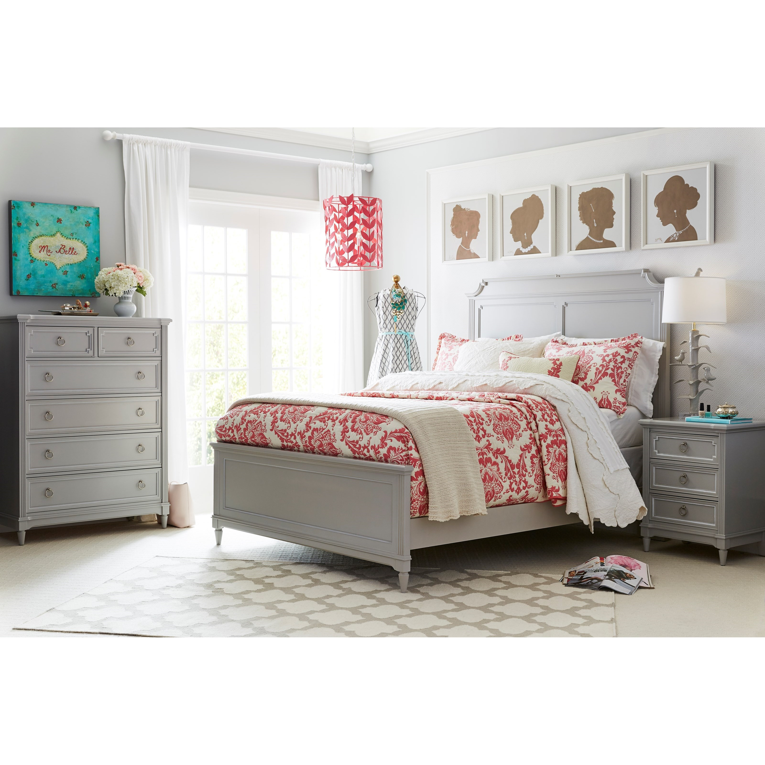 Stone & Leigh Furniture Clementine Court Queen Bedroom Group - Item Number: 537-53 Q Bedroom Group 1