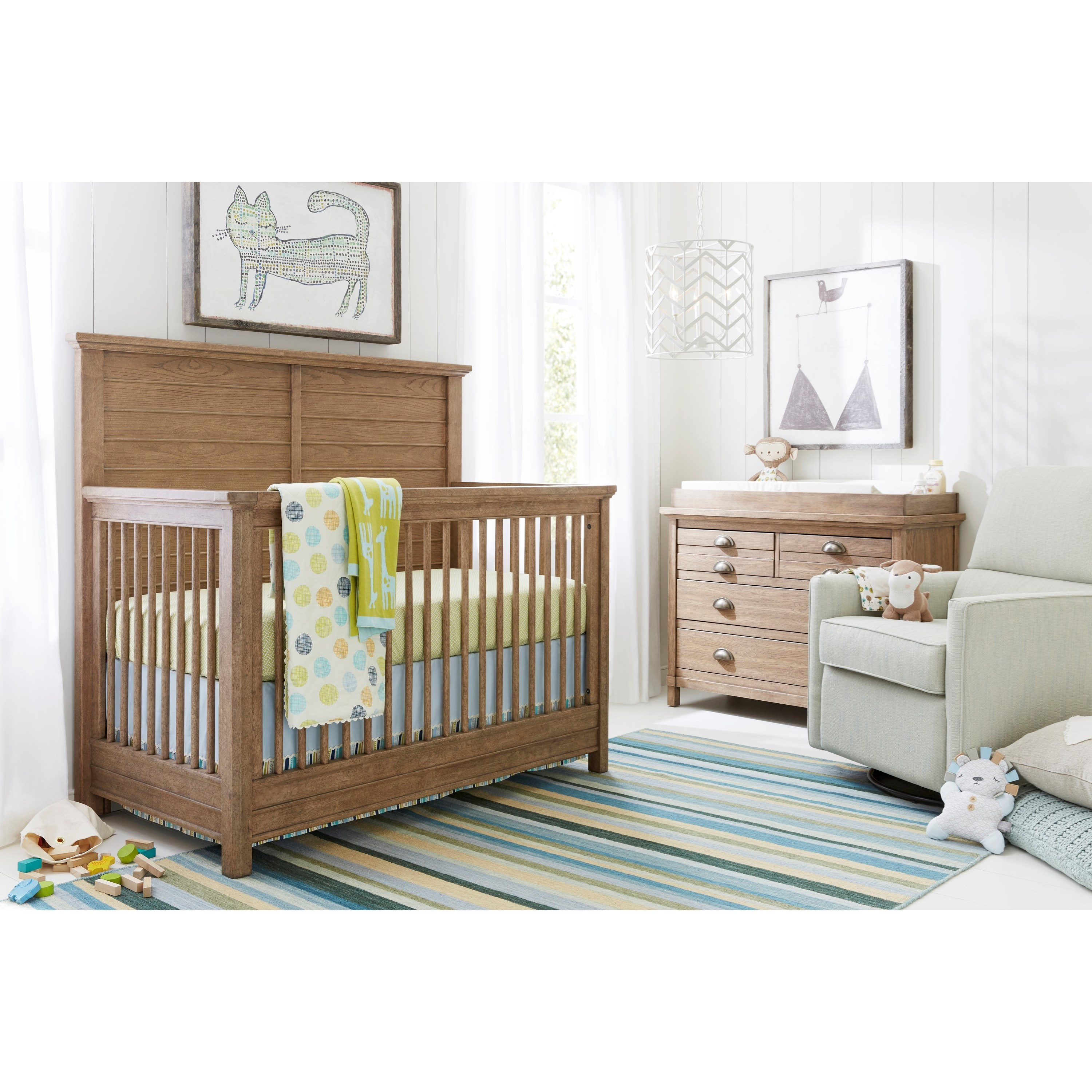 Stone & Leigh Furniture Driftwood Park Crib Bedroom Group - Item Number: 536-13 C Bedroom Group 1