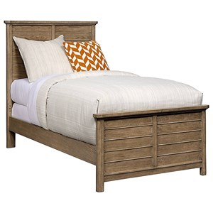 Stone & Leigh Furniture Driftwood Park Twin Panel Bed