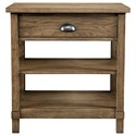 Stone & Leigh Furniture Driftwood Park Bedside Table - Item Number: 536-13-80