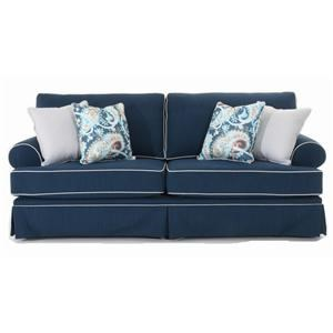 Traditional 2-Seat Sofa with Skirted Base