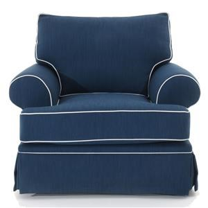 Traditional Upholstered Chair with Skirted Base