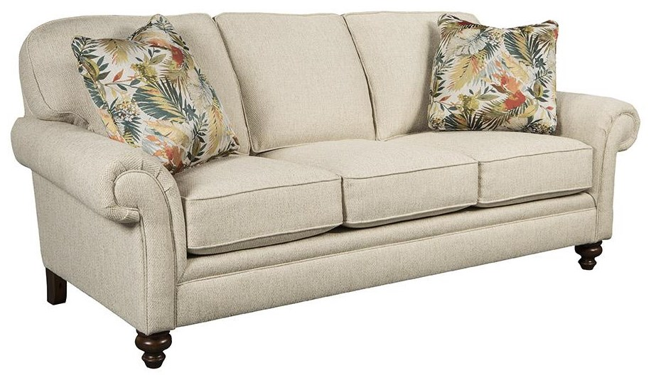 Larissa Rolled Arm Sofa by Stone & Leigh Furniture at Baer's Furniture